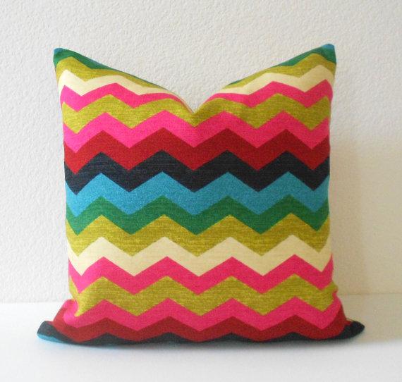 Decorative pillow cover Multicolor floral by pillowflightpdx