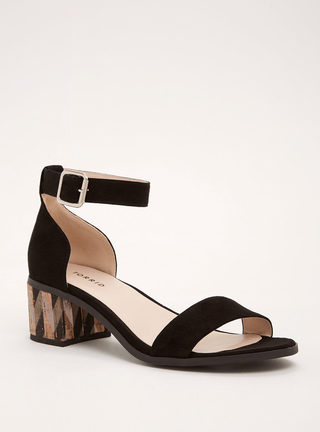 Printed Block Heels (Wide Width