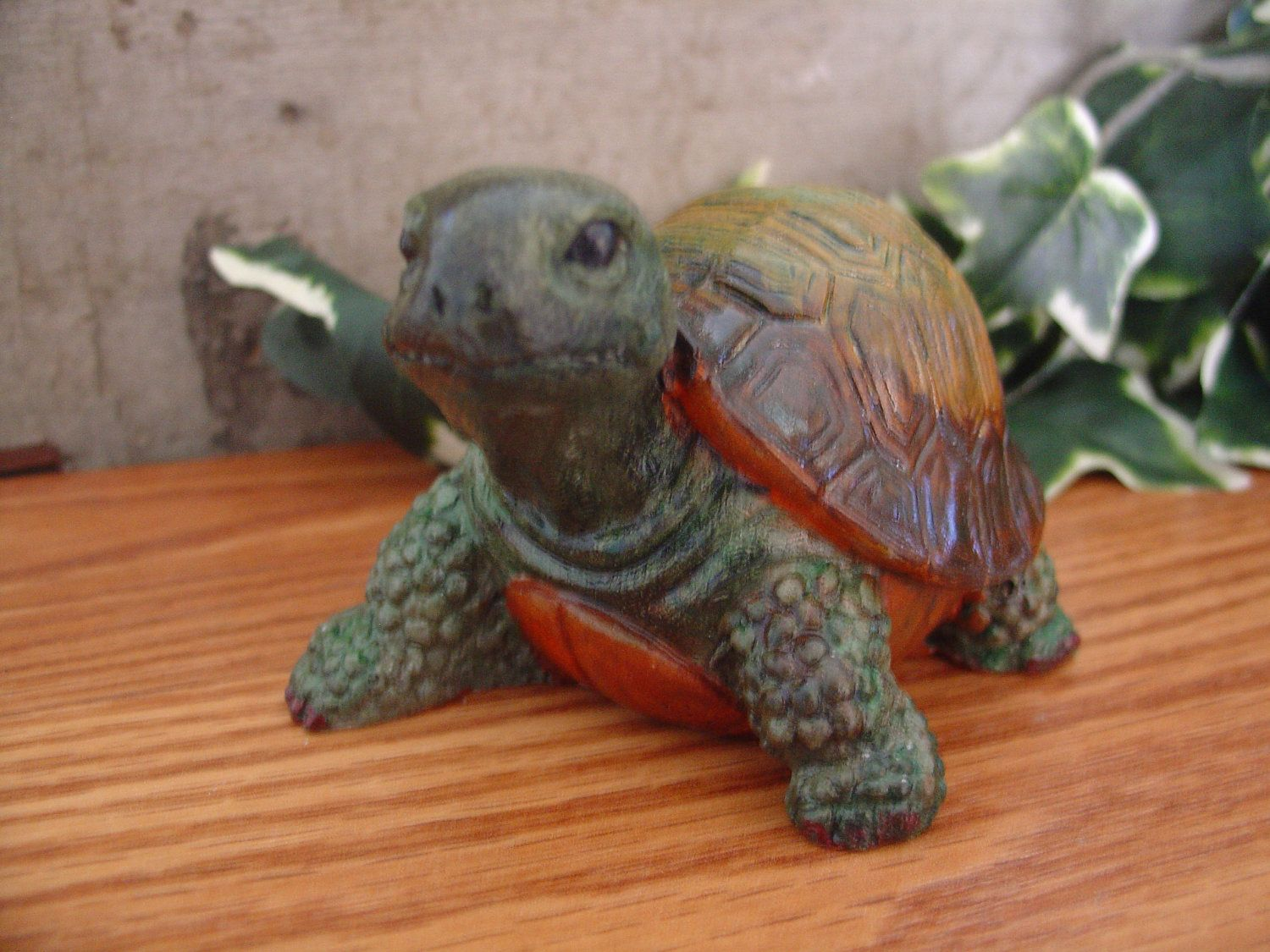 Turtle cement statue figurine indoor outdoor by xson on etsy