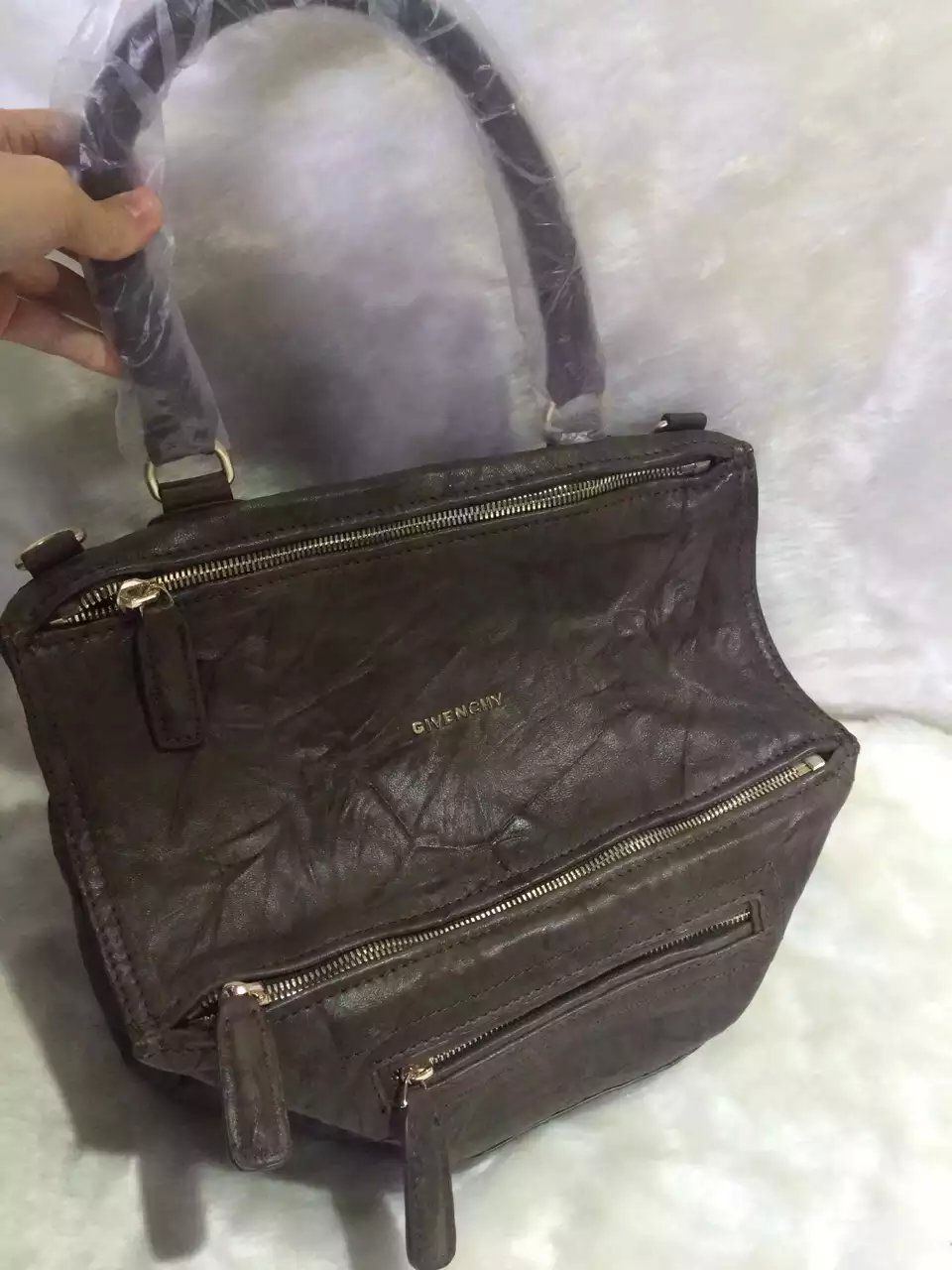 S S 2016 Givenchy Collection Outlet-Givenchy  PANDORA  Large Khaki Pepe  Sheepskin Leather Bag Sale Online 5f0b7ea962ec2