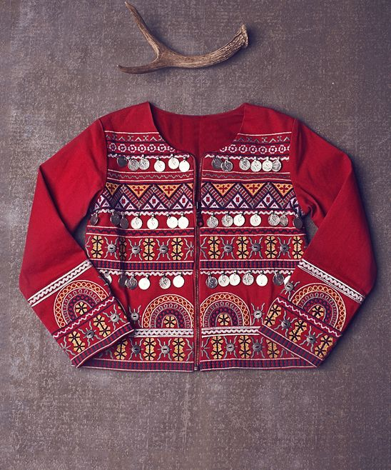Red Cordially Yours Cardigan - Girls