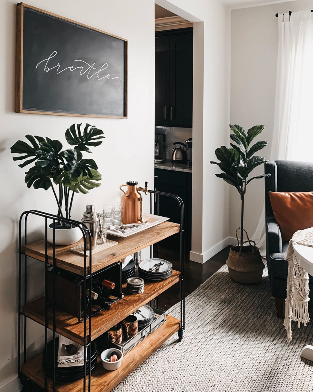 Bar Cart Styling Ideas With Target Hearth And Hand Cot