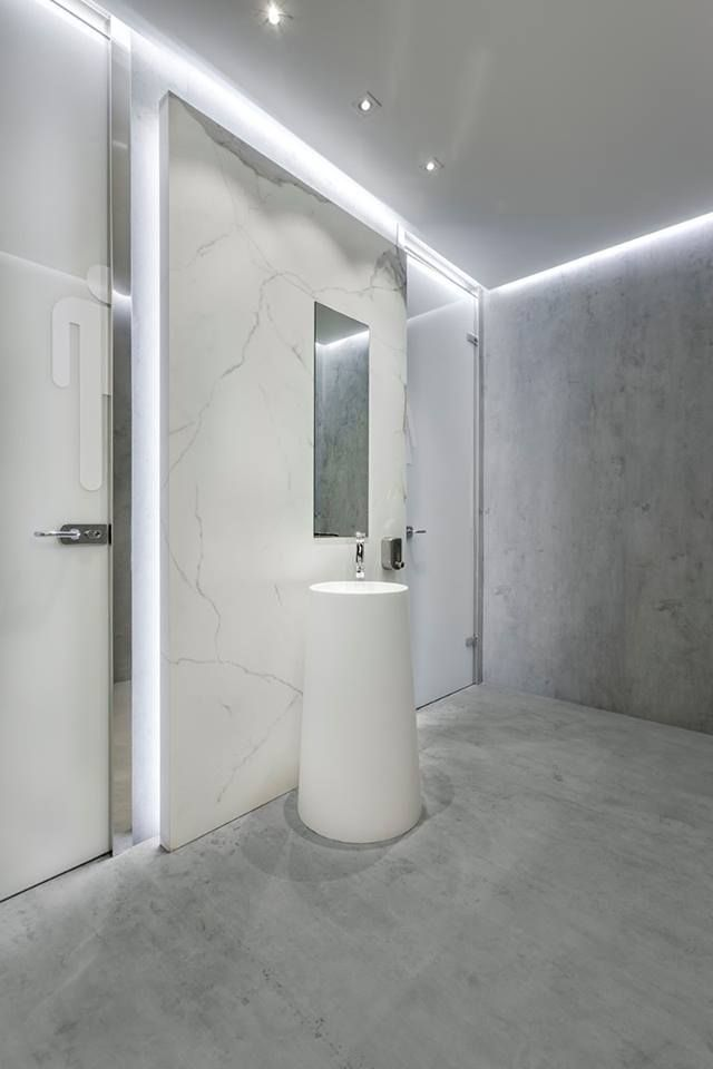 An office bathroom completed with Beton Neolith on the ...