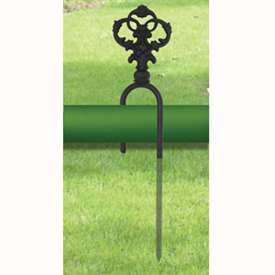 Wrought Iron Decorative Hose Guide Keeps Your Garden Hose Out Of The Way  And Off Your