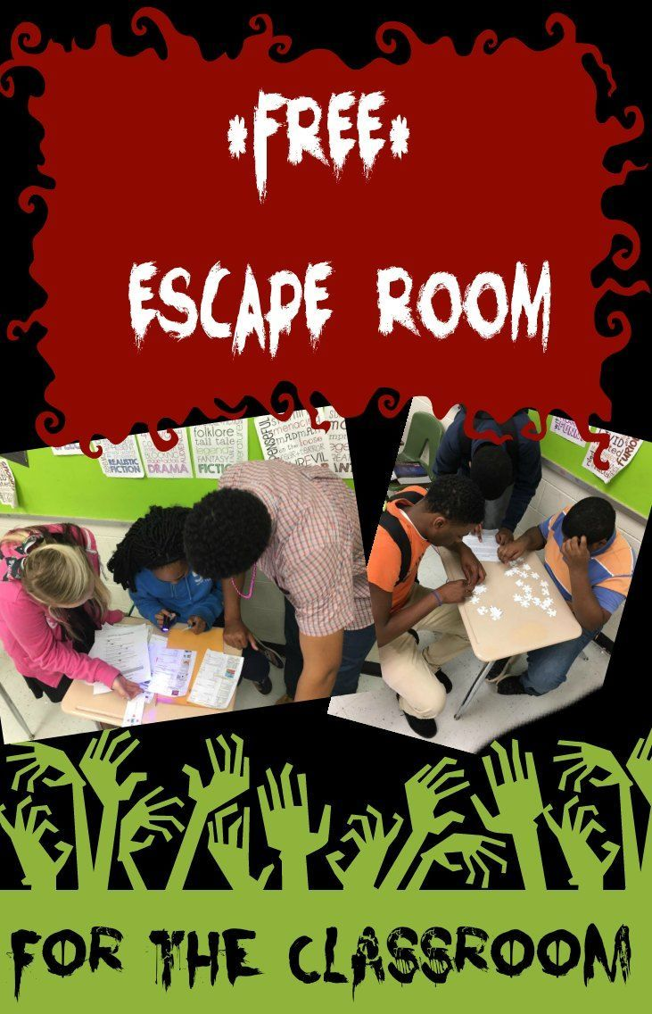image regarding Free Printable Escape Room Kit known as Clroom Escape Area (Assessment Sport) Center faculty math