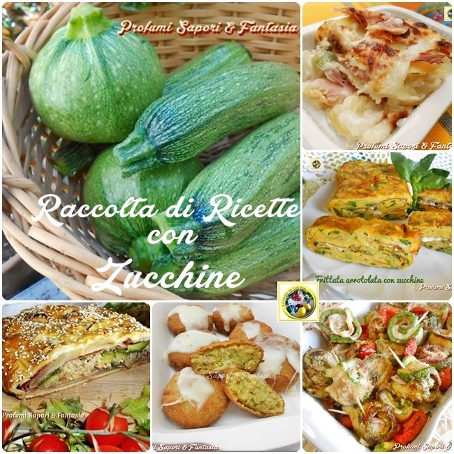 Raccolta di ricette con zucchine  Blog Profumi Sapori & Fantasia