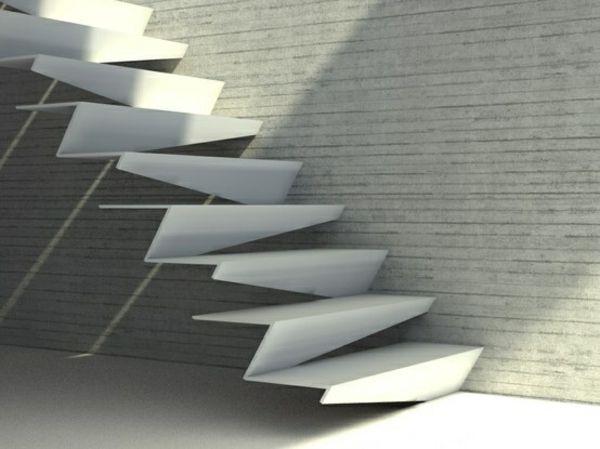 moderne treppen in abstrakten formen gestalten Escadas Stairs - treppen wand gestalten