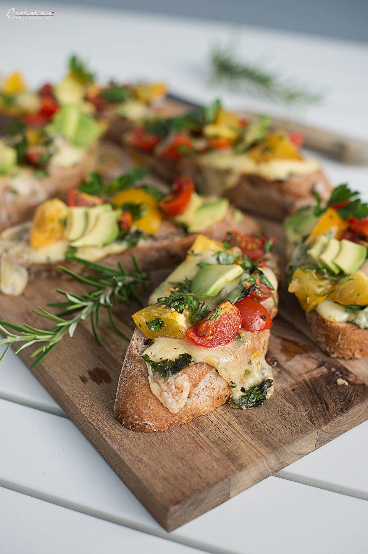 Photo of Tomato avocado cheese bruschetta – hearty snack