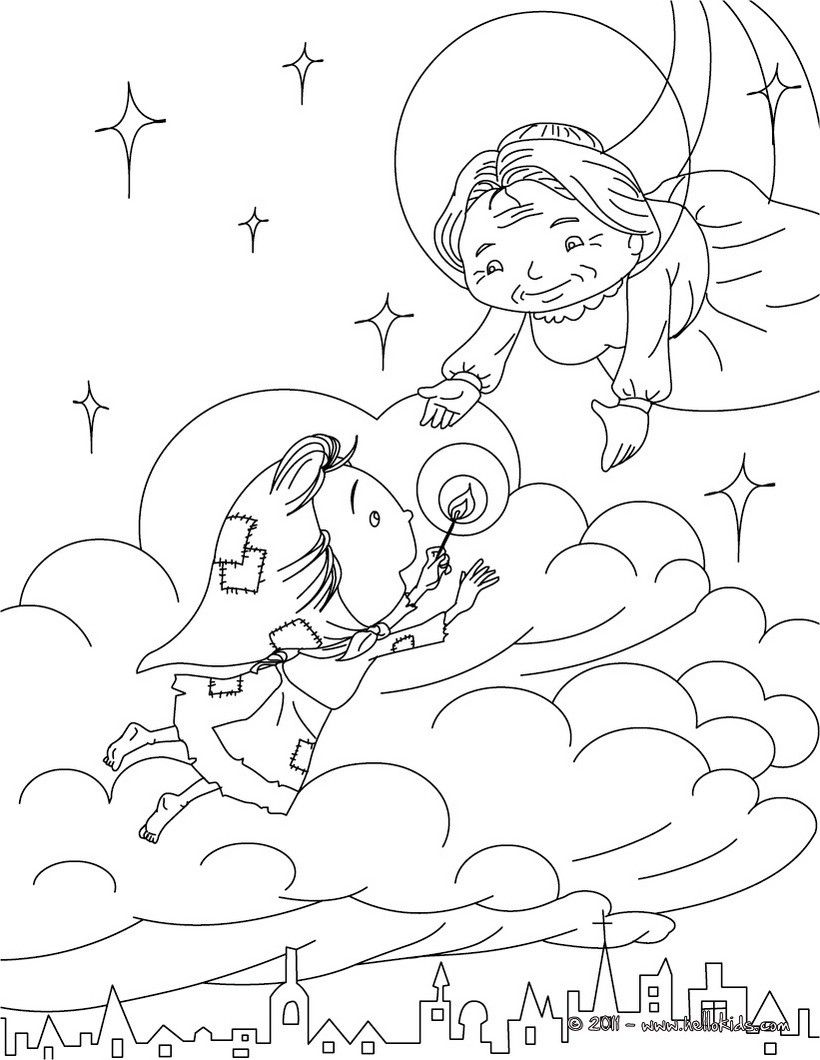Andersen Fairy Tales Coloring Pages The Little Match Girl The Little Match Girl Hans Christian Anderson Fairy Tales Fairy Tales