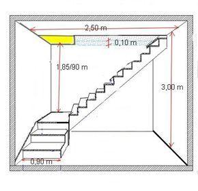 escalier palier plan - Recherche Google | Escalera y ventanas ...