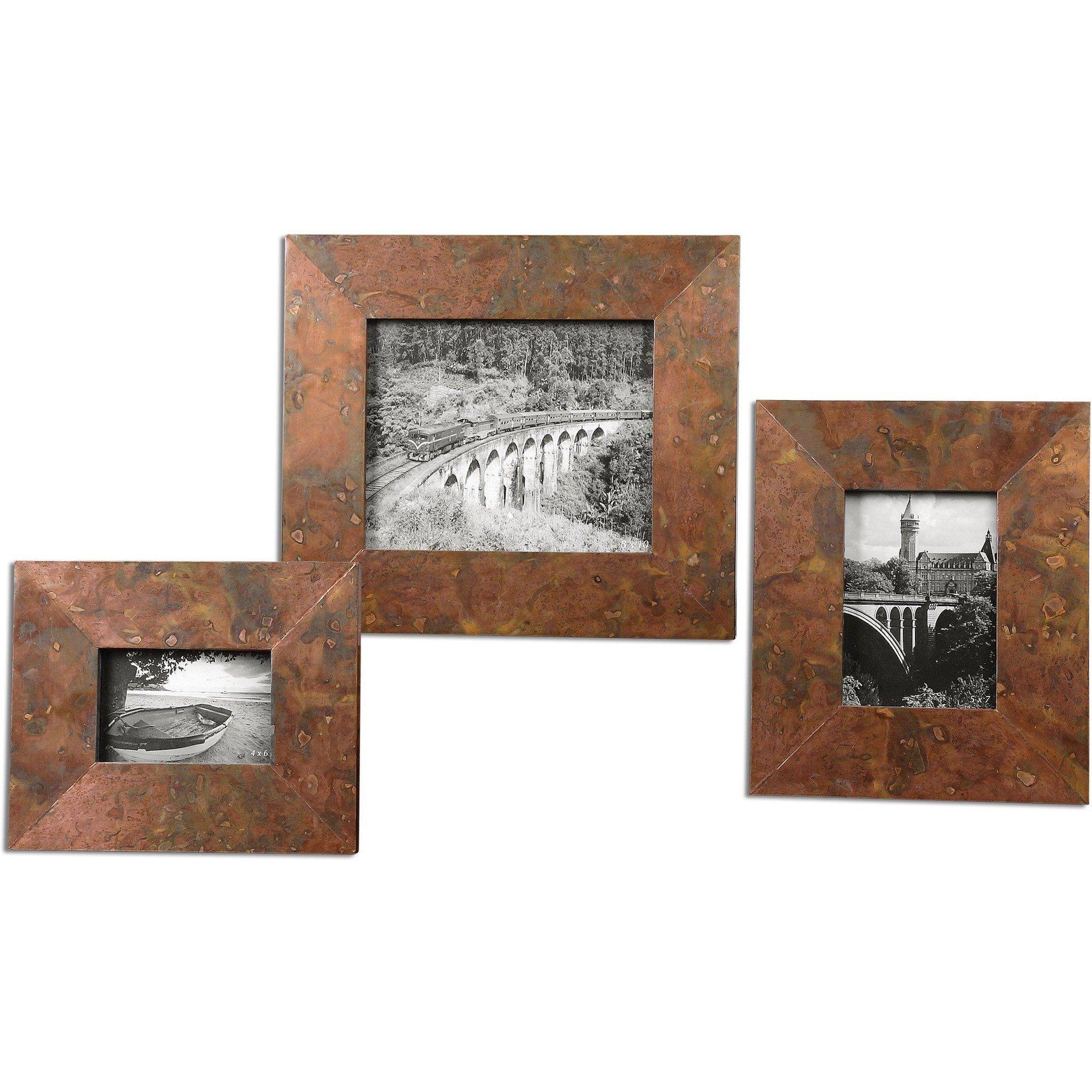 Ambrosia Copper Photo Frames S 3 Copper Photo Frame Picture Frame Sets Copper Frame