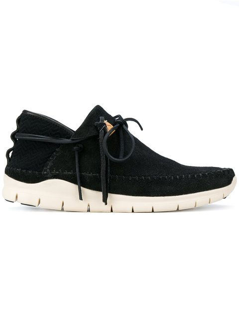 Ute Moc Trainer-folk Suede And Mesh Sneakers - BlackVisvim d29nYoNY
