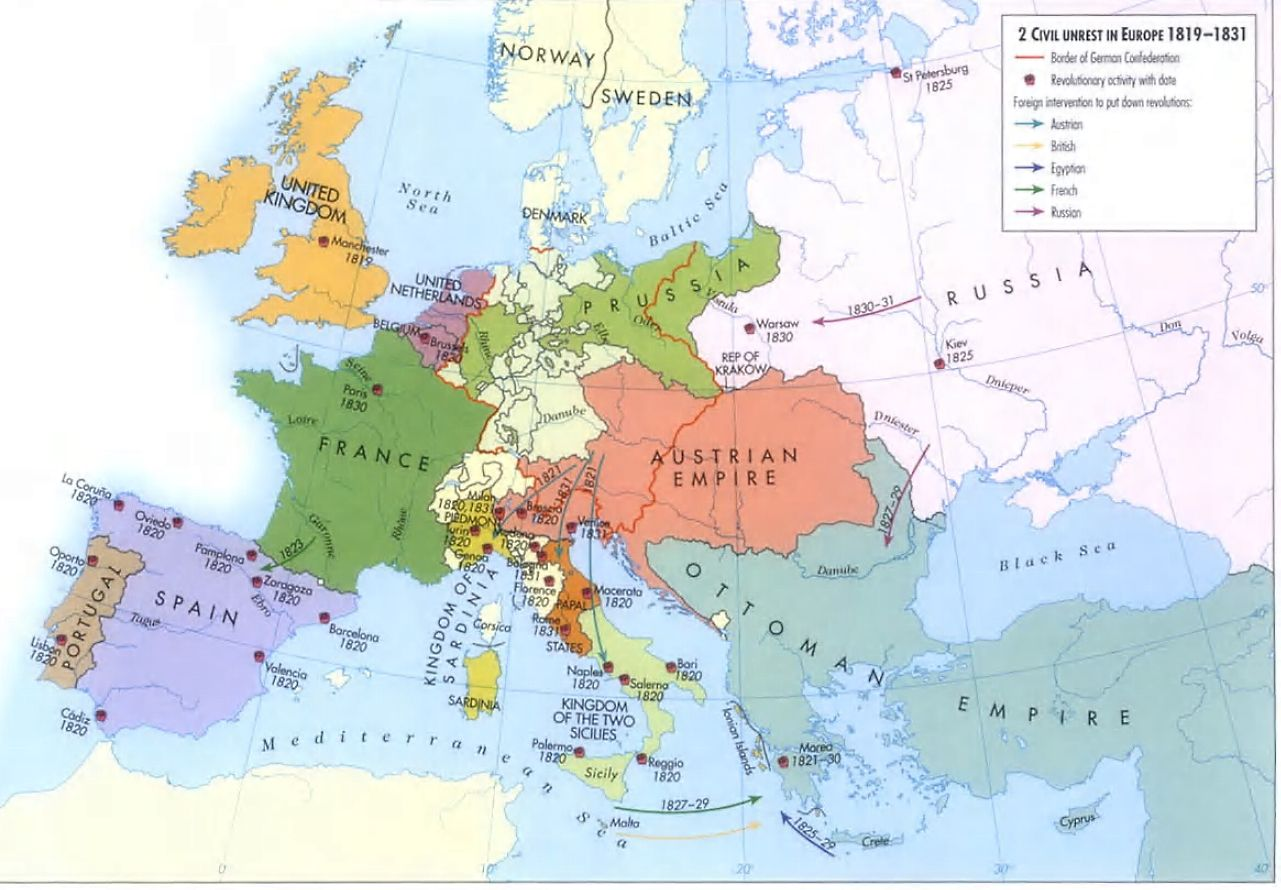 Civil Unrest In Europe French Revolution