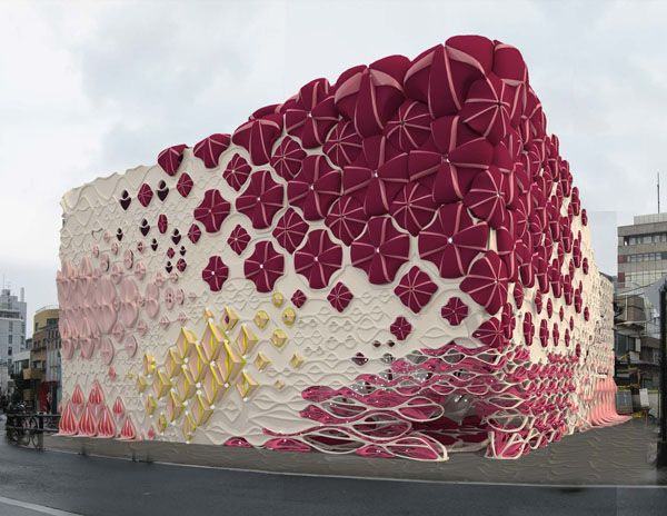 Marisa Fachada original por sus formas, y colores calidos - fachadas originales