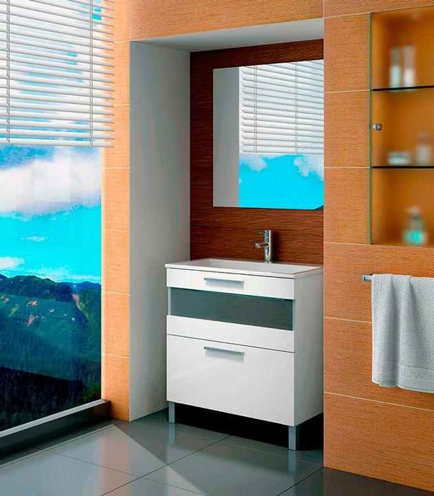 Mueble de ba o moderno modelo idun sencillo y pr ctico for Modelos de muebles de bano modernos
