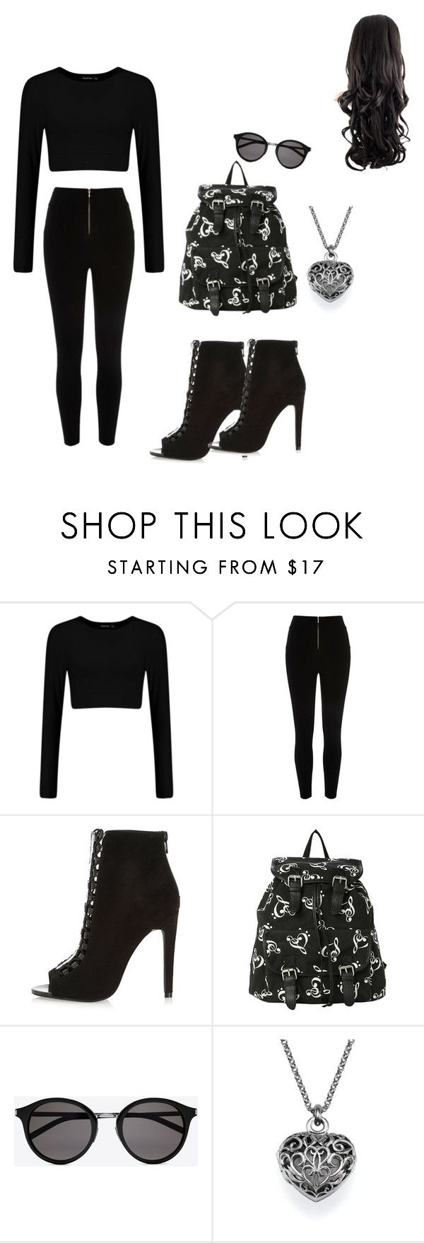 """forever black"" by mekeraamya ❤ liked on Polyvore featuring mode, Yves Saint Laurent, women's clothing, women, female, woman, misses et juniors"