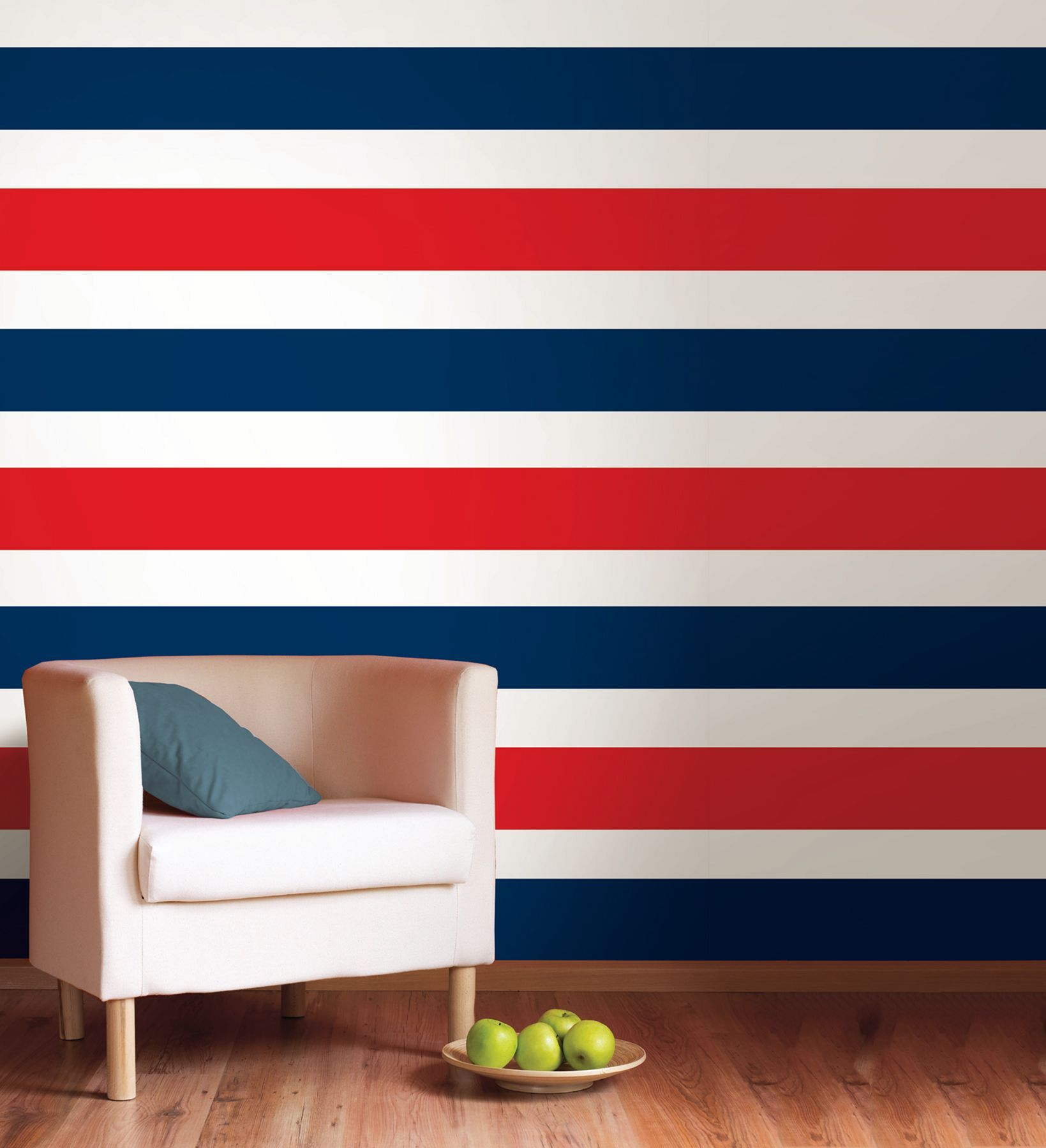 30 Most Attractive Striped Living Room Wall Paint Styles