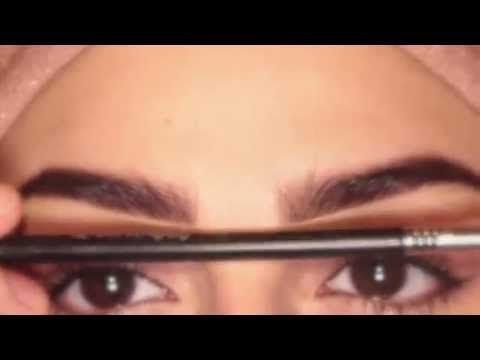 طريقة رسم شعر وهمي للحاجب كيف اخلي حواجبي شكلها متساوي Makeup Youtube Make Up