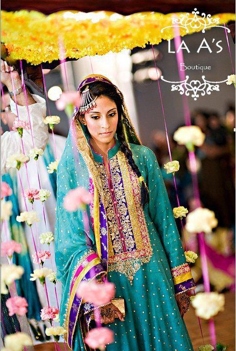 Beautifull Sea Green For Mehandi Pakistani Wedding South Asian Bride Magazine Pakistani Bridal Wear