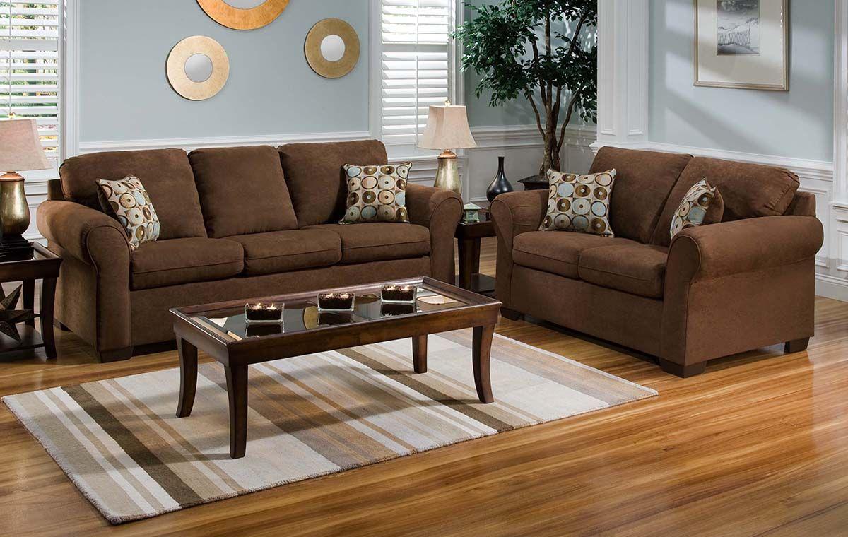 United 1640 Flat Suede Chocolate Sofa Furniture Market Austin