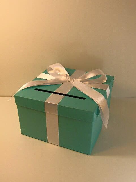 Tiffany Blue Wedding Card Box Gift Money Holder Customize Your Color Small Size