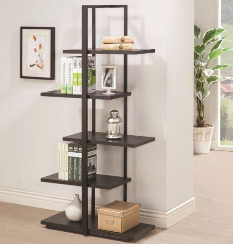 Coaster-Furniture-801034-Home-Office-Open-Bookcase-In-Dark-Cappuccino