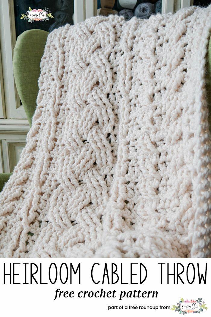Free Crochet Patterns That Look Knit | Mantas para cama, Puntadas de ...