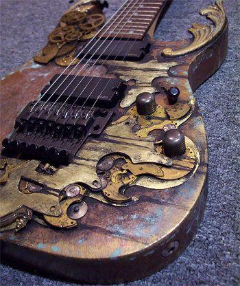 Abney park guitar. . http://www.musicradar.com/news/guitars/10-ridiculously-cool-steampunk-guitars-197183