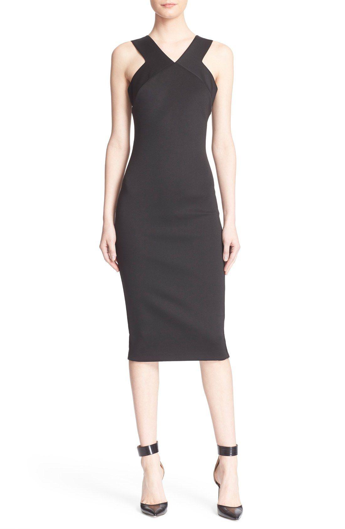 Ted Baker London \'Vadena\' Midi Sheath Dress   Little Black & White ...