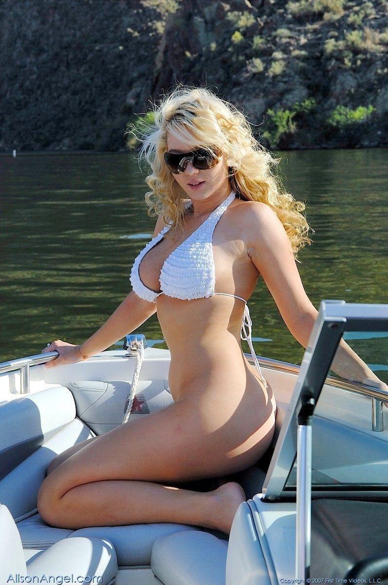 Bottomless  Boats  Blonde Hair Girl, Alison Angel, Bikinis-5389