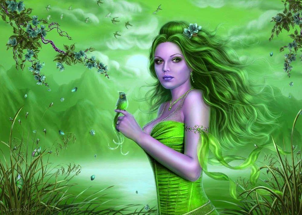 Fine Fantasy Art Women | art 3d abstract art beautiful bird cg digital fantasy female fine ...