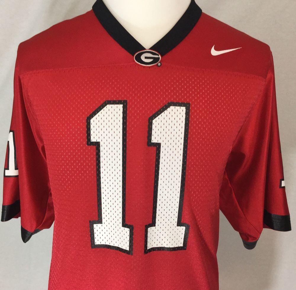 official photos 7f536 f46df Nike NCAA Georgia Bulldogs UGA Red Black College Football ...