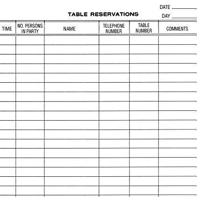 Reservation Book For Restaurant Google Search Book
