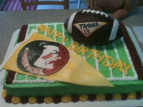 Birthday Cakes Macarthur ~ Fsu birthday cake football birthday cake tina doshi macarthur