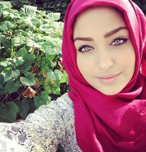 Beautiful Blue Eyes Muslim Girl