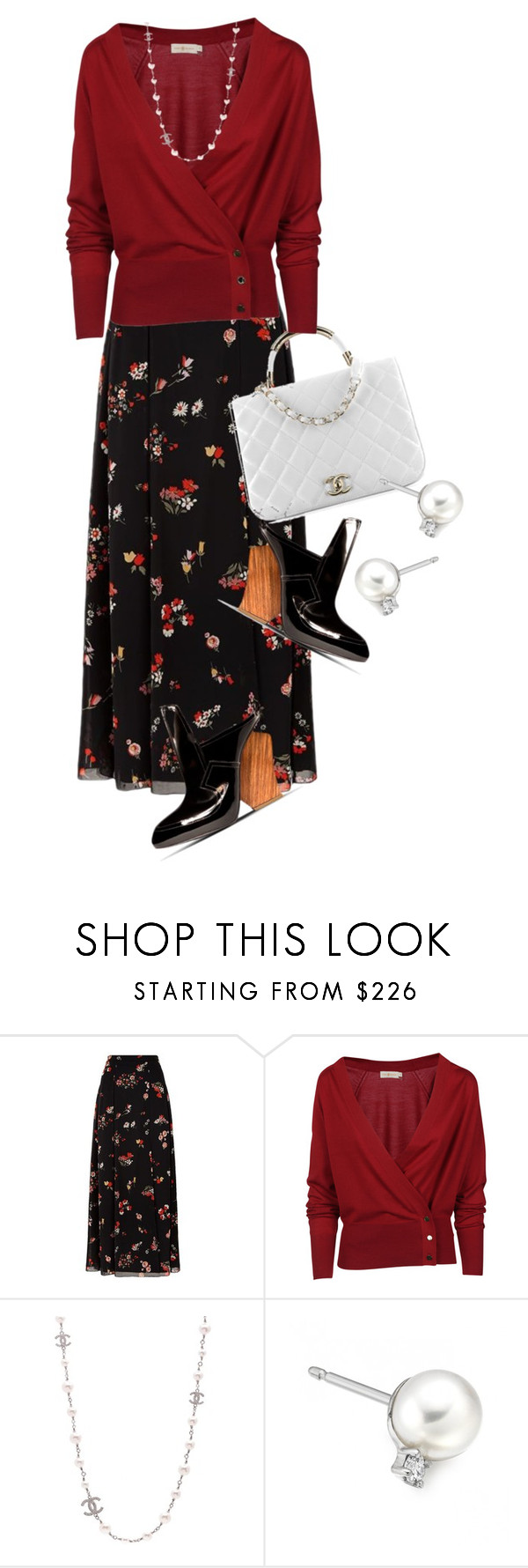 """""""OOOK Galliano Wedge Heels (2)"""" by queenrachietemplateaddict ❤ liked on Polyvore featuring RED Valentino, Chanel, Tory Burch and John Galliano"""
