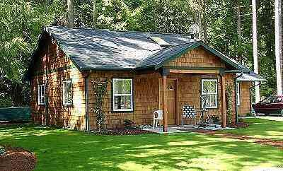 Grandfather Cottage, a simple to build one story house plan. This ...