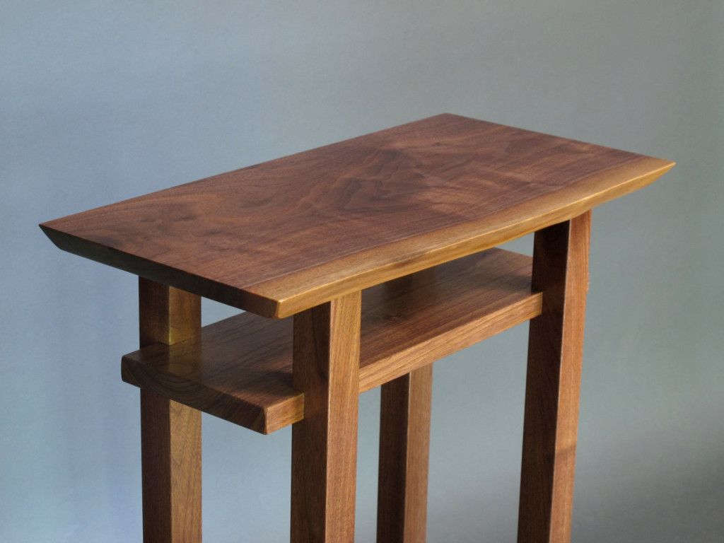 Small Narrow End Table  Walnut, Cherry And Maple, Solid Wood Accent Tables  For Small Spaces  Modern Wood Furniture, Handmade In The USA | Pinterest |  Modern ...