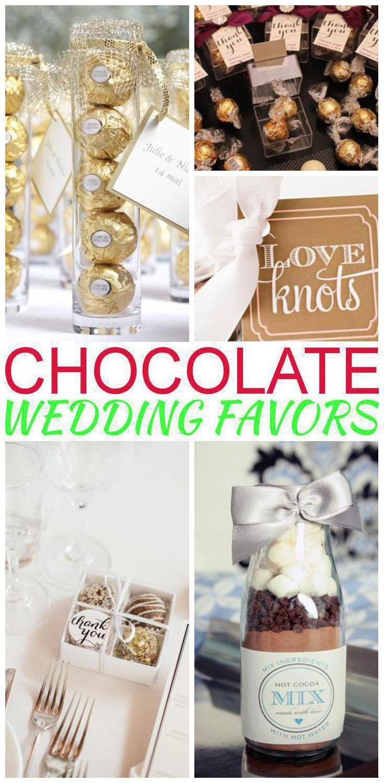 Chocolate Wedding Favors | Wedding favour chocolates, Wedding shower ...