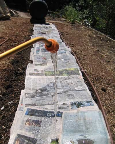 how to remove grass to start a garden