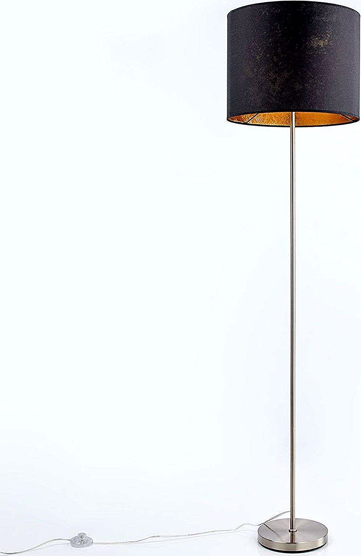 Lampe de sol Salma, noir-or de Lampenwelt.com  Modern floor lamps