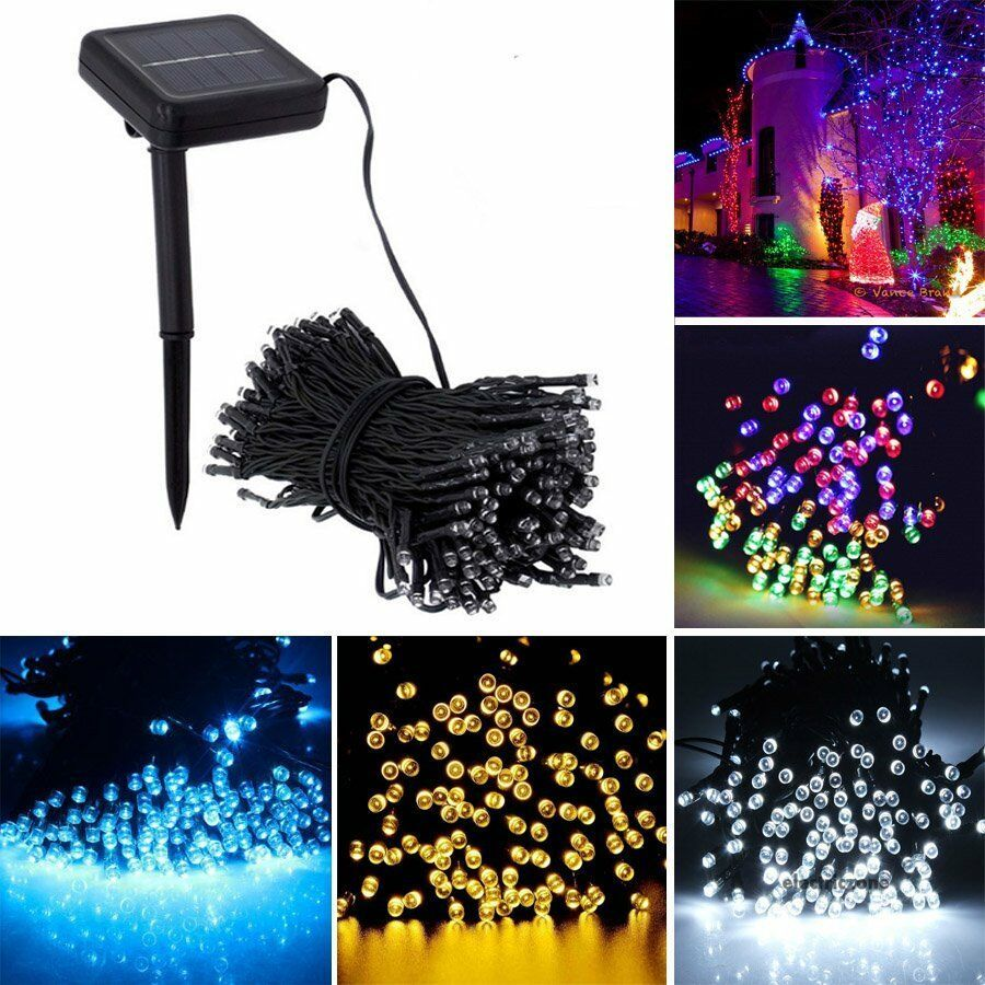 Solar Fairy String Light LED Waterproof Gardern Party Xmas Lamp Christmas