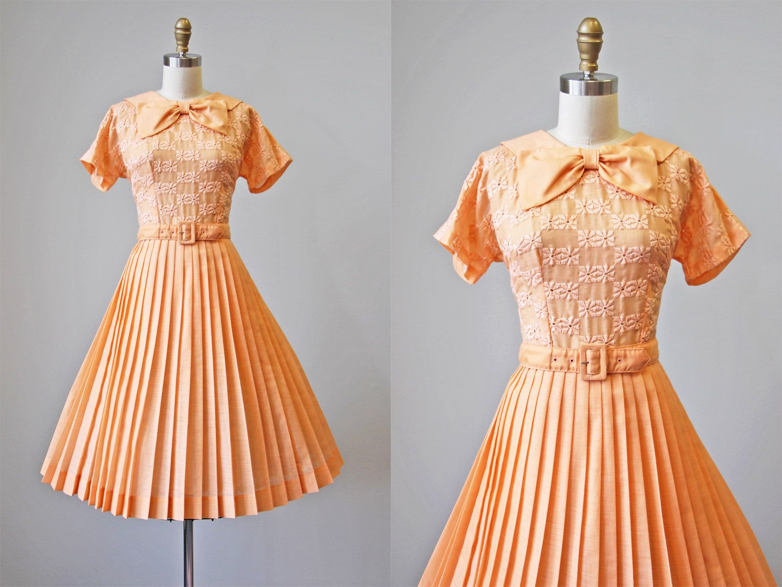 50s Dress Orange