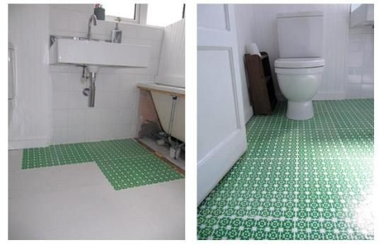 High Style Low Cost Diy Bathroom Floor Diy Bathroom Diy