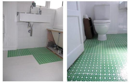High Style Low Cost Diy Bathroom Floor Diy Flooring Diy Bathroom Diy Bathroom Design