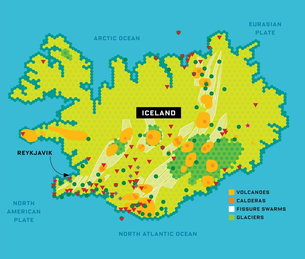 Volcano Alert A System To Warn Us About The Next Major Iceland - Map of volcano in us
