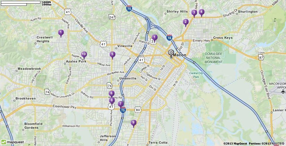 Pawn Shops In Macon Georgia MapQuest Map Quest Pinterest - Mapquest macon ga