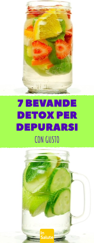 7 bevande detox per depurarsi con gusto. #detox #energia #frutta #verdura #dieta #fitness #perderepe...