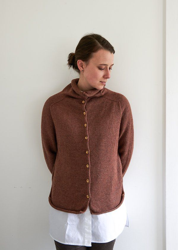 Top-Down Turtleneck Cardigan, Now in Baby Fawn   Purl Soho   Purl