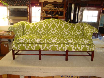 Taking Furniture From Drab To Fab Furniture Reupholstery Printed Fabric Sofa Reupholstery